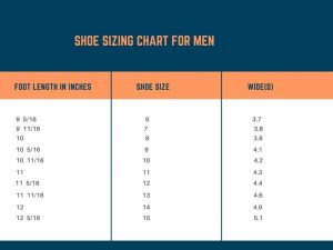shoe sizing chart for men